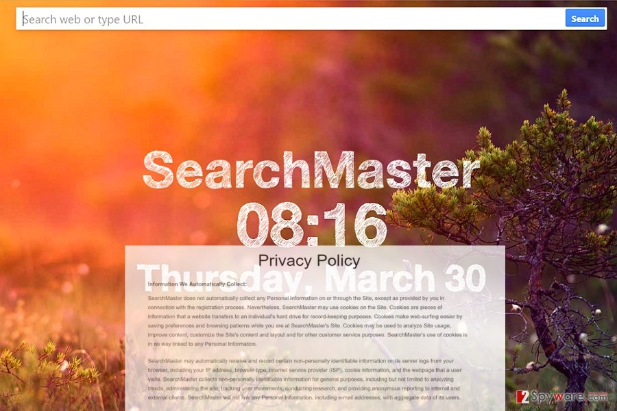The image displaying Search Master