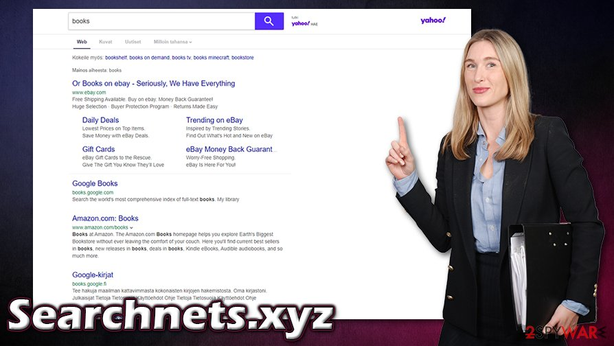 Searchnets.xyz redirects