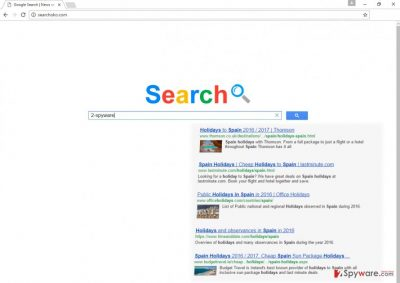 The example of Searchoko.com virus