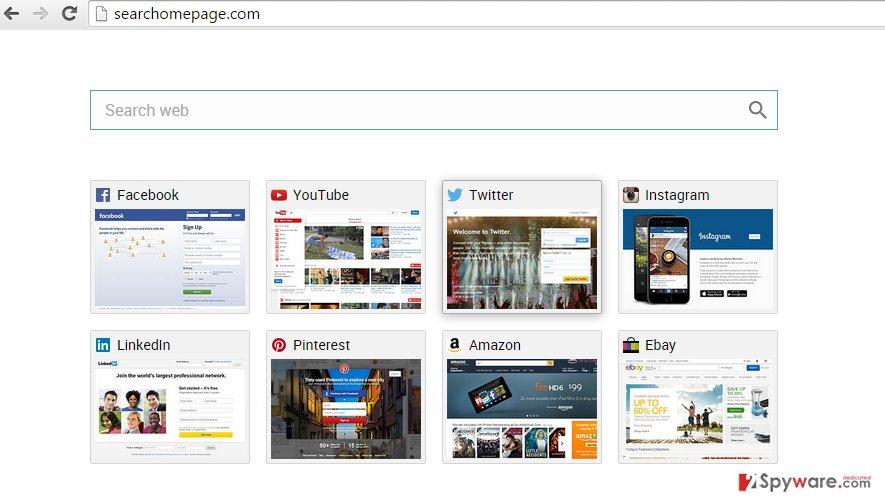 Searchomepage.com virus