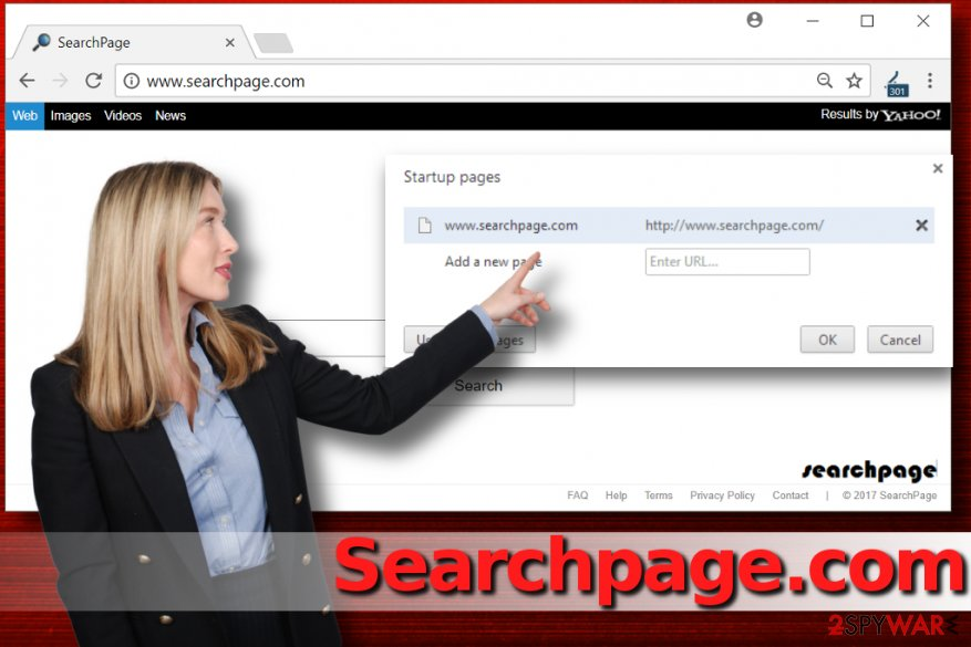 SearchPage.com redirect virus