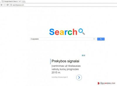 The picture of Searchpause.com virus