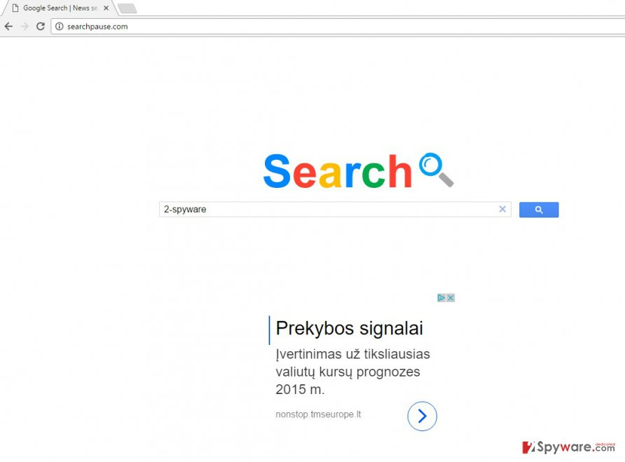 The picture of Searchpause.com virus search engine