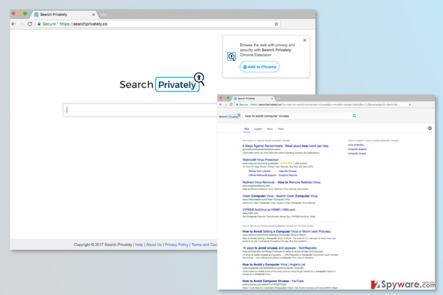 The picture of SearchPrivately.co search engine