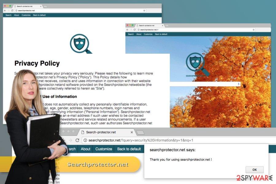 The illustration of Searchprotector.net virus