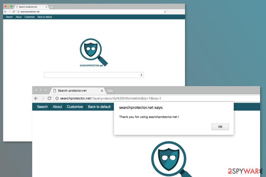 Screenshot of Searchprotector.net