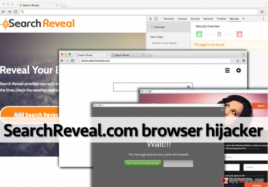 Searchreveal.com browser hijacker presents third-party content
