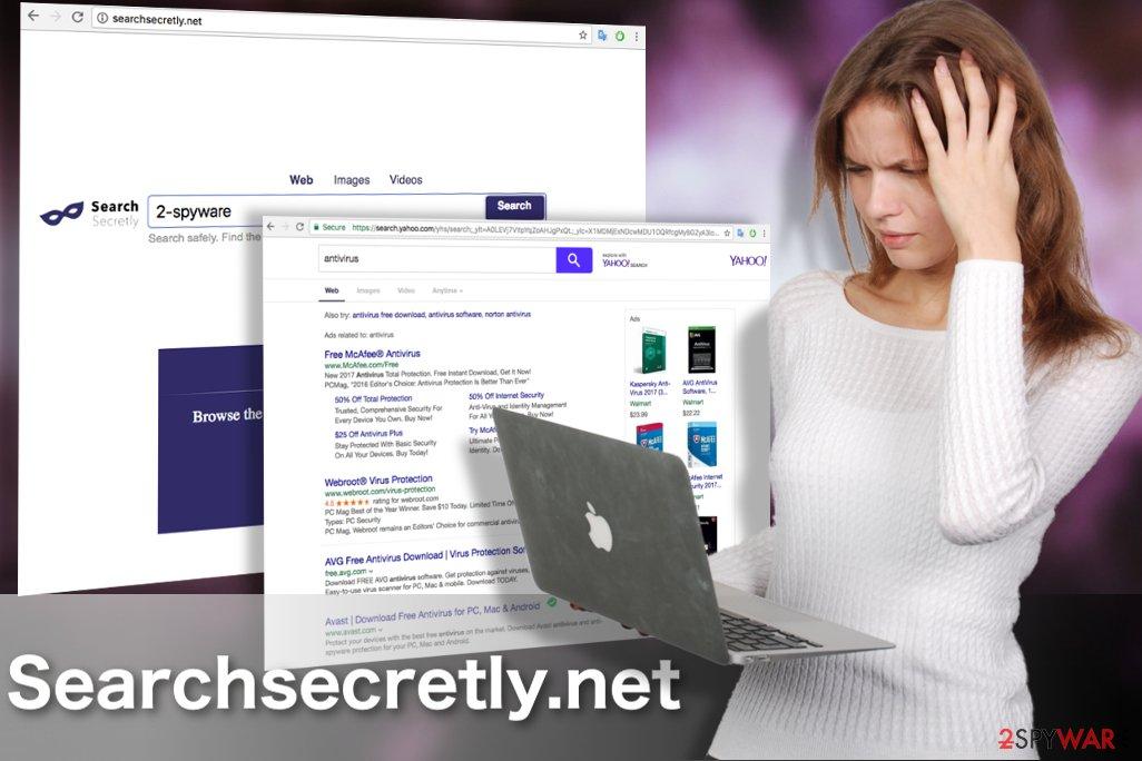 Image of the Searchsecretly.net virus