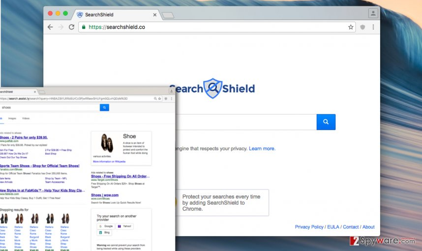 Searchshield redirect virus