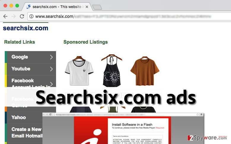Examples of Searchsix.com ads