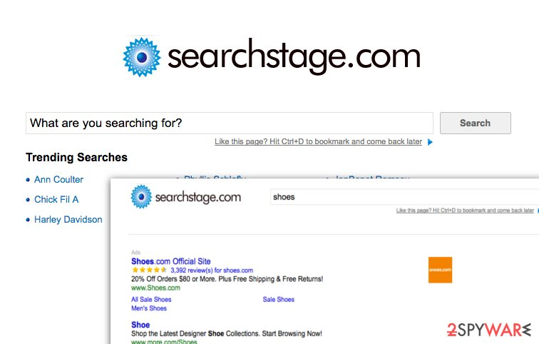 Suspicious SearchStage.com search engine