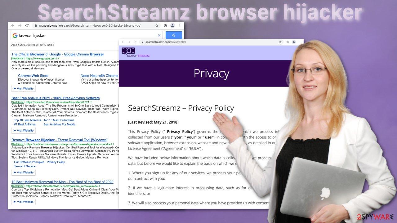 SearchStreamz browser hijacker