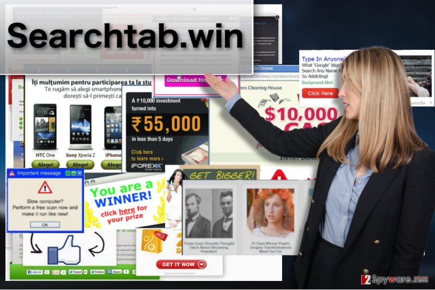 Searchtab.win adware virus example