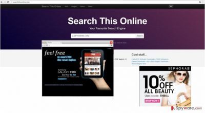 The screenshot of searchthisonline.com