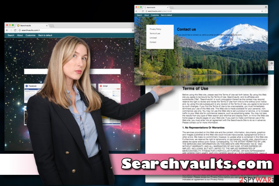 Screenshot of Searchvaults virus