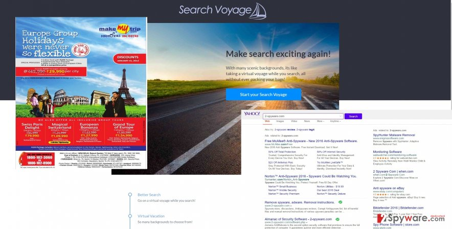 The picture showing Search Voyage ads