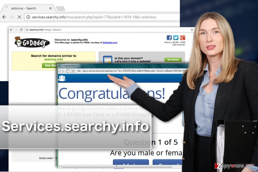 Example of Searchy.info virus