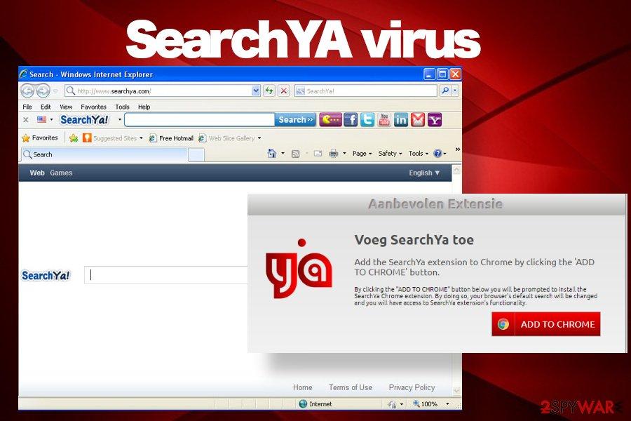 SearchYA virus start page