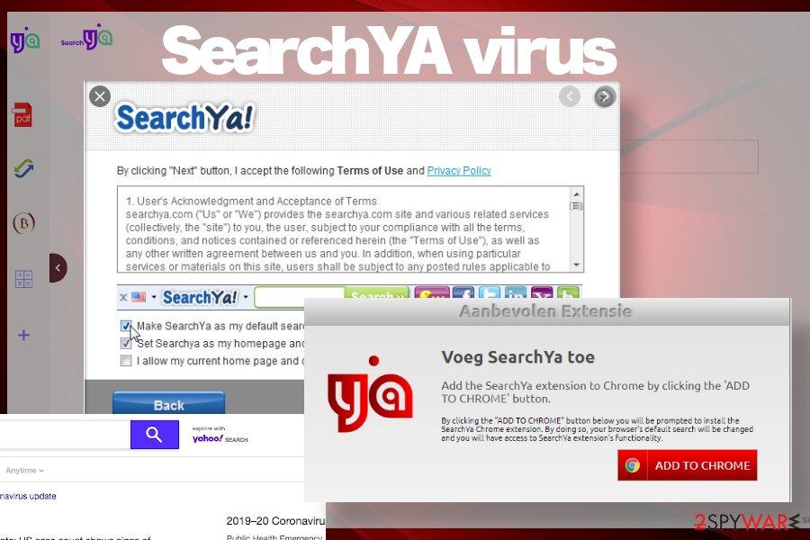 SearchYA virus installer