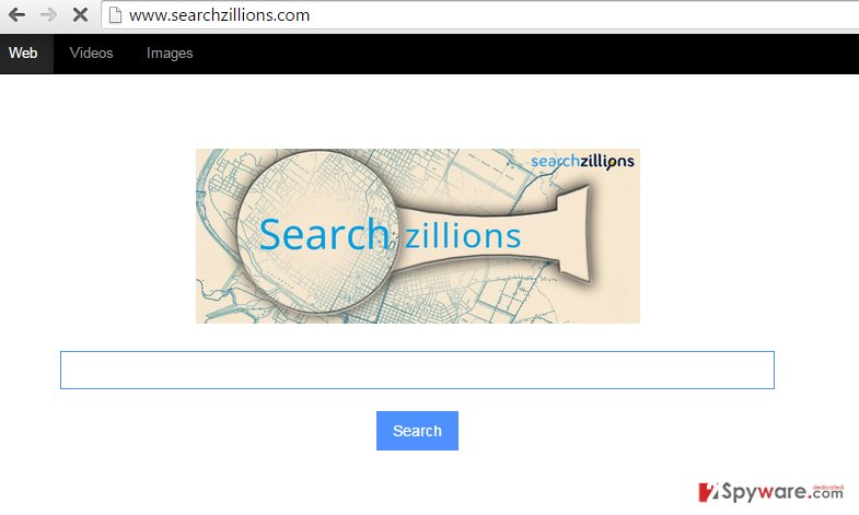 Searchzillions.com redirect