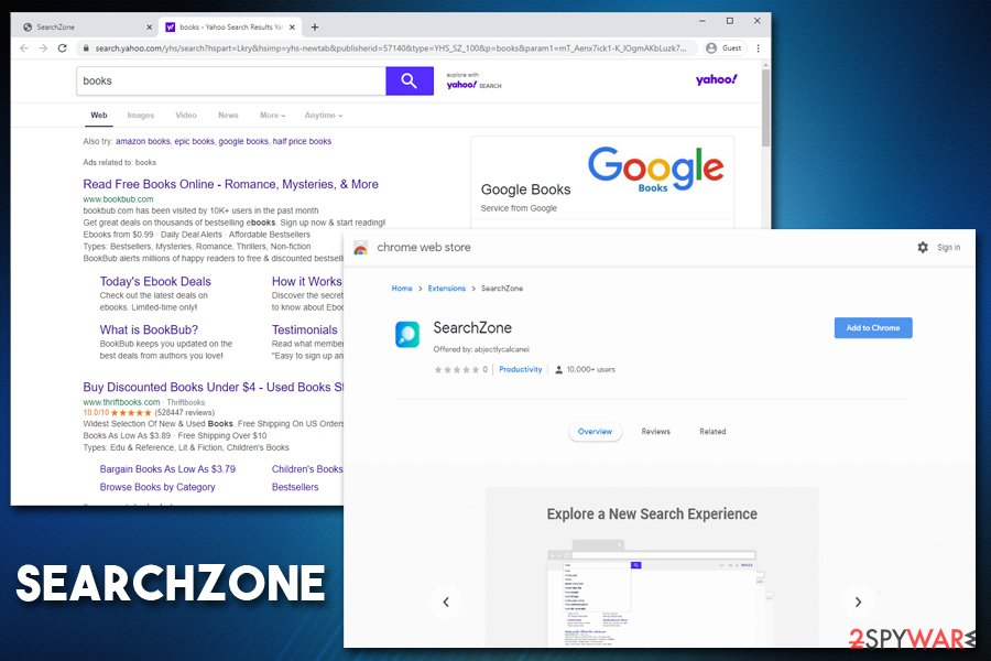 SearchZone potentially unwanted app