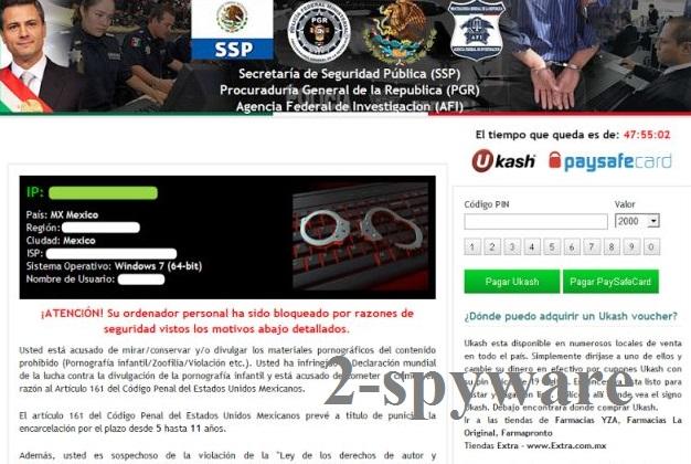Secretaría de Seguridad Pública virus snapshot