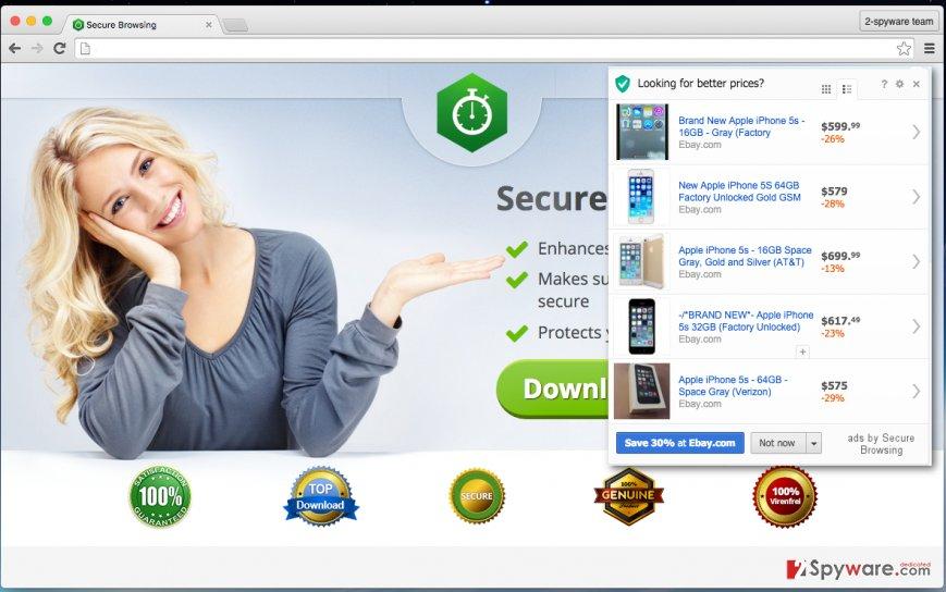 Secure Browsing hijack