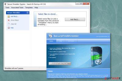 Secure File Shredder redirect