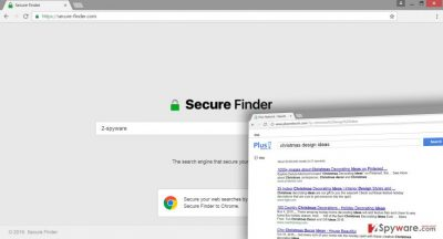 The picture of Secure-finder.com virus