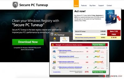 An image of the Secure PC Tuneup program