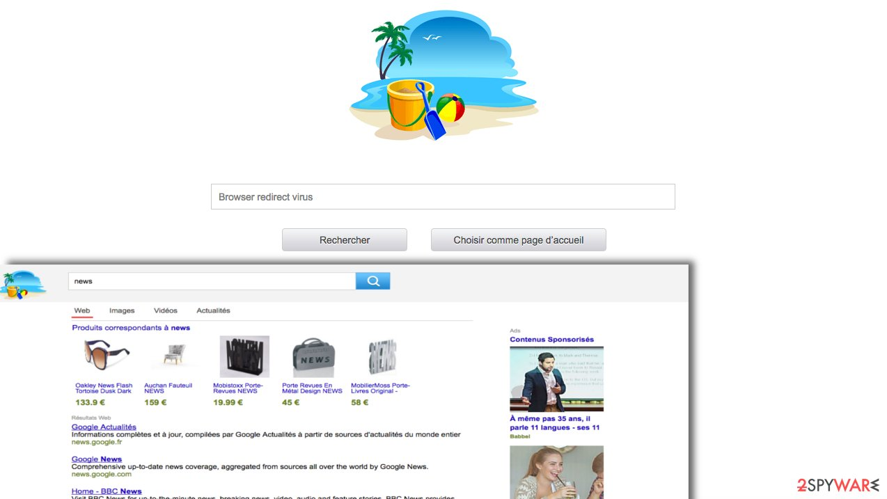 Screenshot of Secure-surf.com search engine