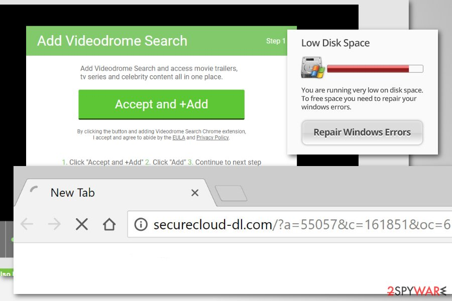 Securecloud-dl.com virus redirects to suspicious websites