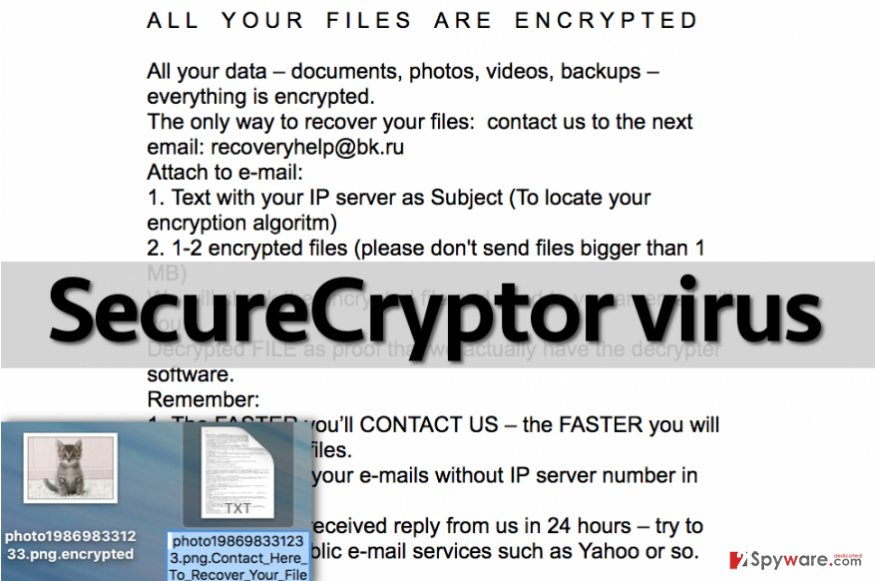 SecureCryptor malware leaves ransom note