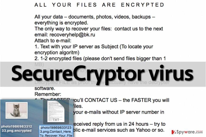 SecureCryptor malware leaves ransom note