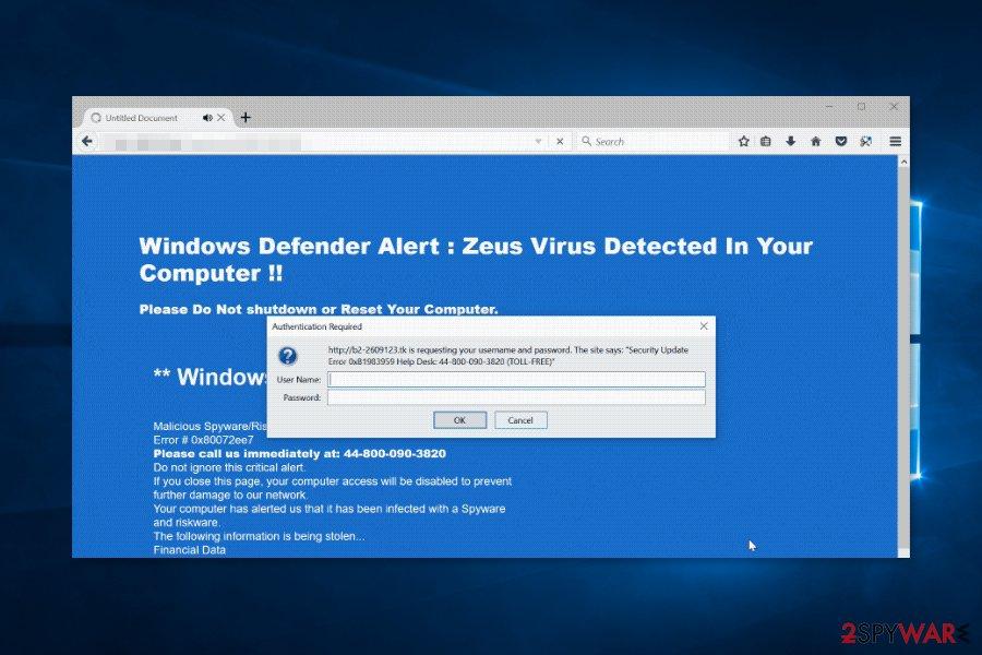 Security Update Error virus