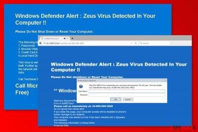 """Screenshot of """"Security Update Error"""" virus"""