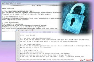 SEED LOCKER ransomware