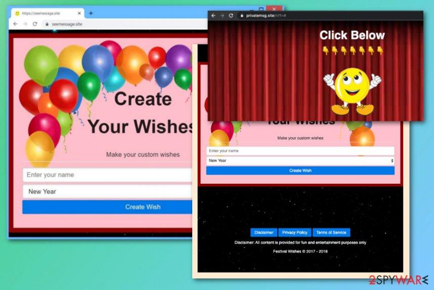 Seemessage.site virus