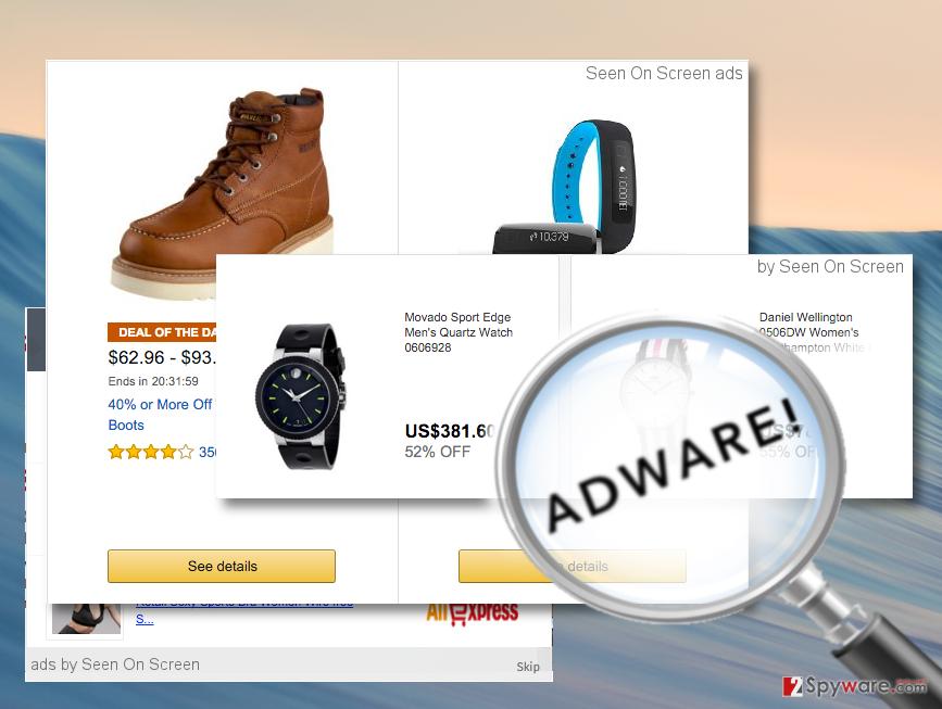 ads by Seen On Screen on desktop