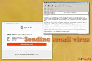 Sendinc email virus