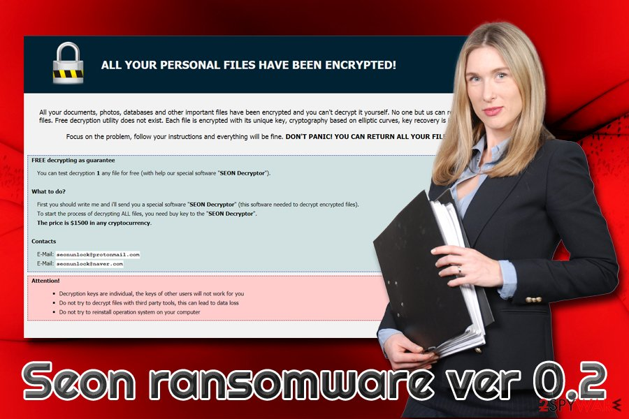 Seon ransomware ver 0.2 virus