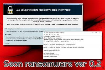 Seon ransomware ver 0.2
