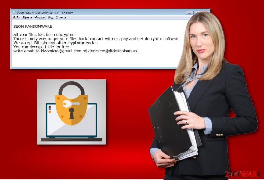 Seon ransomware virus