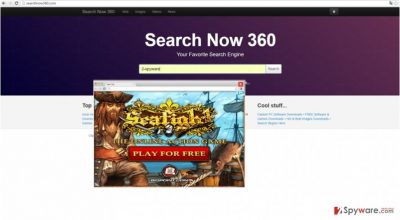 The image disclosing searchnow360.com