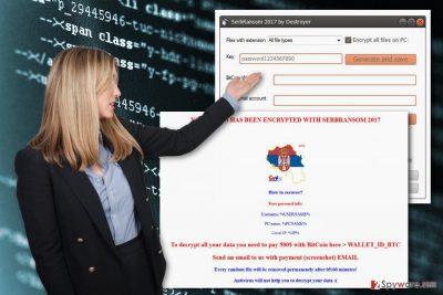 The image of SerbRansom ransomware virus