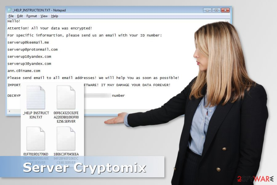 Image of Server Cryptomix ransomware virus