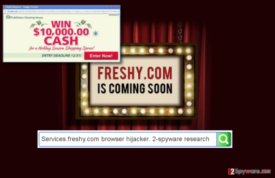 Services.freshy.com redirects website