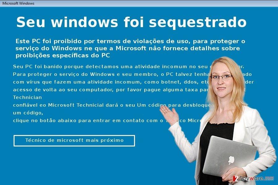 The picture of Seu windows foi sequestrado