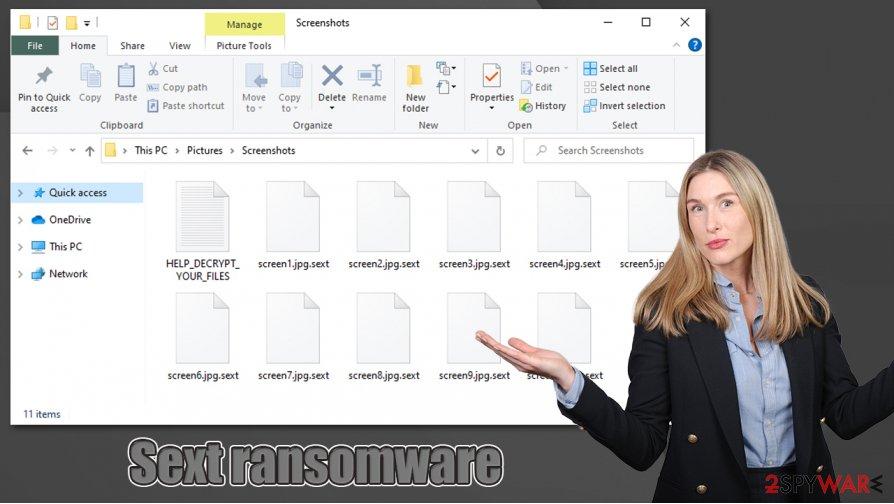 Sext ransomware virus