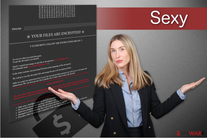 Sexy ransomware illustration